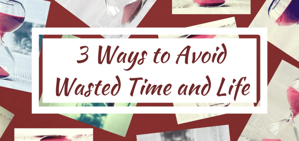 how to stop wasting time